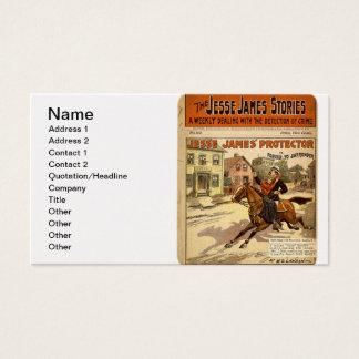 Jesse James geächtetes Bank-Räuber-Comic-Buch Visitenkarte