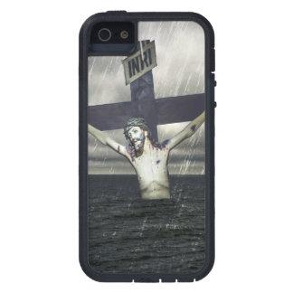 Jesus auf dem Kreuz in dem Meer iPhone 5 Cover