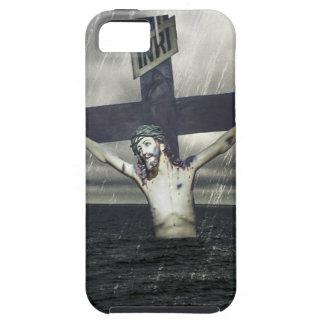Jesus auf dem Kreuz in dem Meer iPhone 5 Etuis