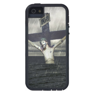 Jesus auf dem Kreuz in dem Meer iPhone 5 Hülle