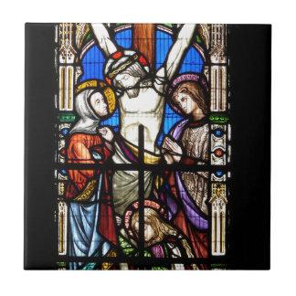 Jesus Christus-Buntglas Keramikfliese