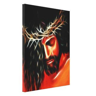 Jesus Christus, der für Sie schreit Leinwanddruck