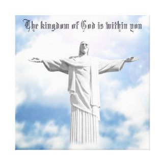 Jesus Christus-Gott ist innerhalb Sie Leinwanddruck