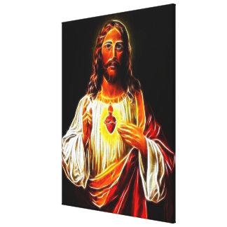 Jesus Christus-heiliges Herz Leinwanddruck