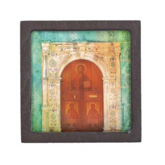 Jesus Christus-Ikonen-Tür-griechisches orthodoxes Schmuckkiste