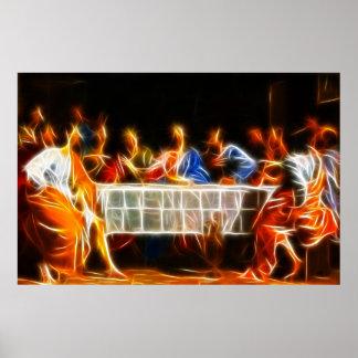 Jesus Christus-letztes Abendessen-Plakat Poster