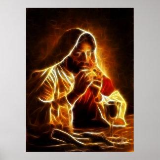 Jesus Christus-letztes Abendessen Poster