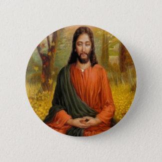 Jesus Christus-Meditation Runder Button 5,7 Cm
