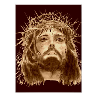 Jesus Christus mit Dornenkrone Poster