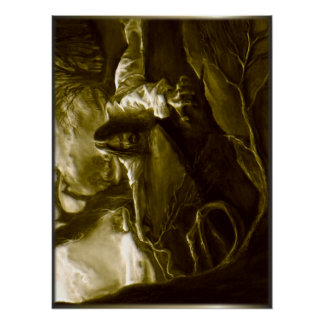 Jesus Christus-Qual im Garten von Gethsemane Poster