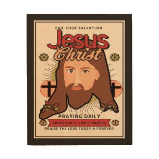 Jesus Christus rettet Soulen hölzerne Wand-Kunst Holzleinwand