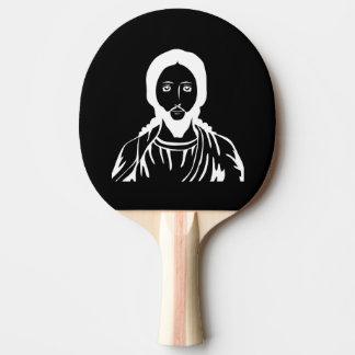 Jesus Christus Tischtennis Schläger