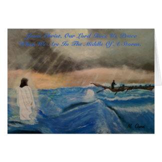 Jesus Christus, unser Lord Gives Us Frieden Grußkarte