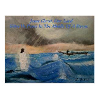 Jesus Christus, unser Lord Gives Us Frieden Postkarte