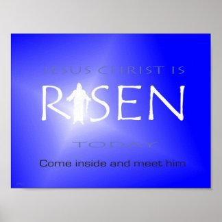 Jesus Christus wird heute gestiegen Poster