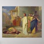 Jésus guérissant le lépreux, 1864 poster