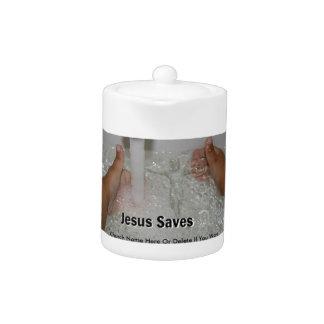 Jesus im Wasser mit zwei Daumen Up