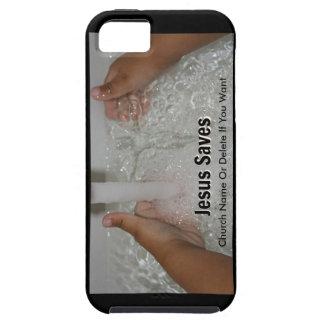 Jesus im Wasser mit zwei Daumen Up Tough iPhone 5 Hülle