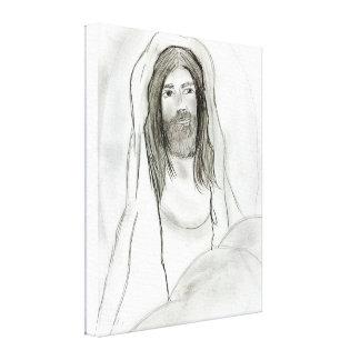 Jesus in der Höhle Leinwanddruck