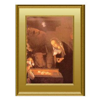 Jesus in der Krippe Postkarte