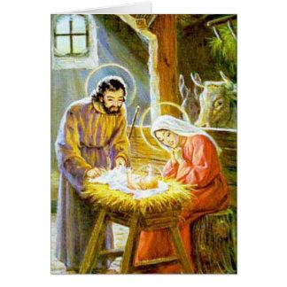Jesus in der Krippen-WeihnachtsGeburt Christi Karte