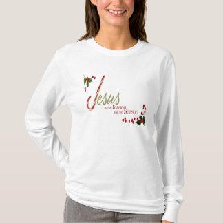 Jesus ist das Grund-Damen-lange Hülsen-T-Shirt T-Shirt