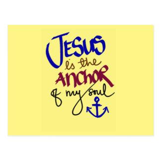 Jesus ist der Anker meines Souls Postkarte
