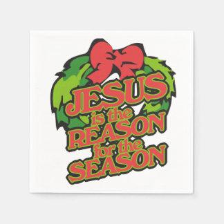 Jesus ist der Grund für das Jahreszeit Weihnachten Papierserviette