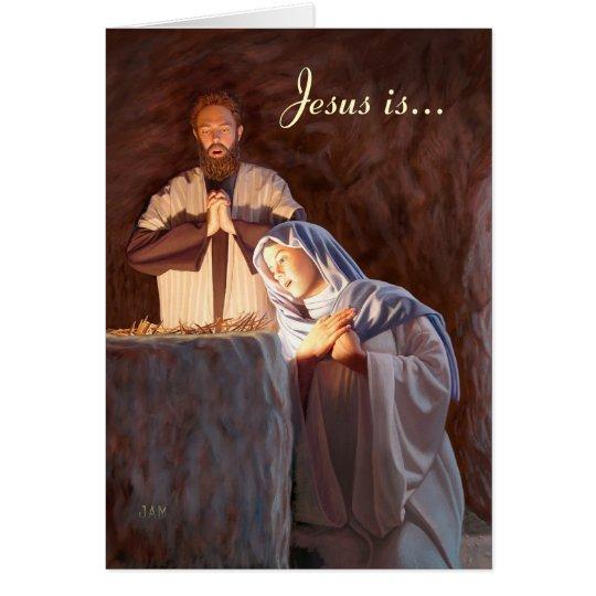 Jesus ist der Grund für die Jahreszeit-Gruß-Karte Karte