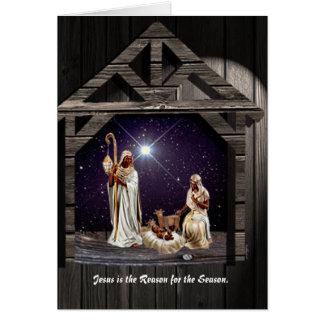 Jesus ist der Grund während der Jahreszeit Karte