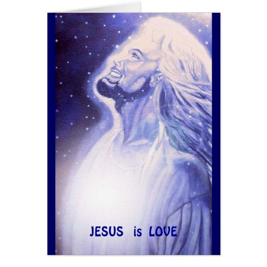 JESUS   ist LIEBE Karte