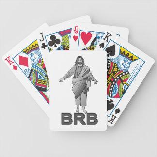 Jesus ist nach rechts zurück bicycle spielkarten