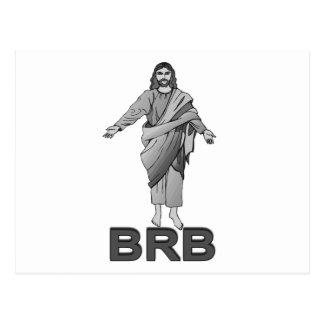Jesus ist nach rechts zurück postkarte