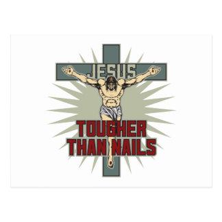 Jesus ist stärker als Nägel Postkarte