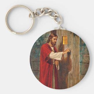 Jesus klopft auf der Tür Standard Runder Schlüsselanhänger