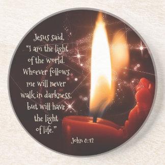 Jesus-Licht des Weltpsalms 8, Bibel, Weihnachten Untersetzer