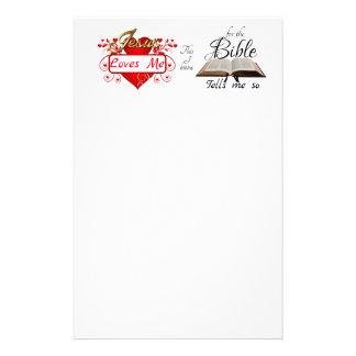 Jesus-Lieben ich, dieser, den ich… weiß Briefpapier