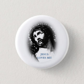 Jesus-Lieben ich Knopf Runder Button 2,5 Cm