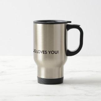 Jesus-Lieben reisen Sie Tasse