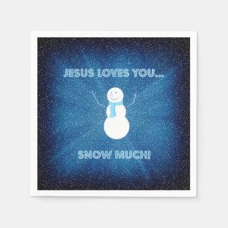 Jesus-Lieben schneien Sie viel! Christliches Servietten
