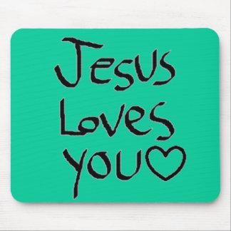 Jesus-Lieben Sie Mousepads