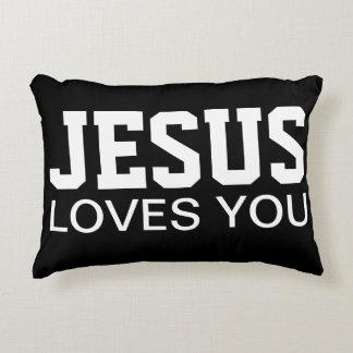 Jesus-Lieben Sie motivierend Typografie Zierkissen