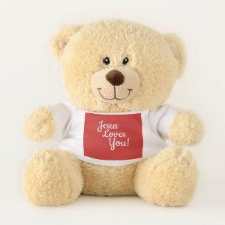 Jesus-Lieben Sie Weihnachtsbär Teddybär
