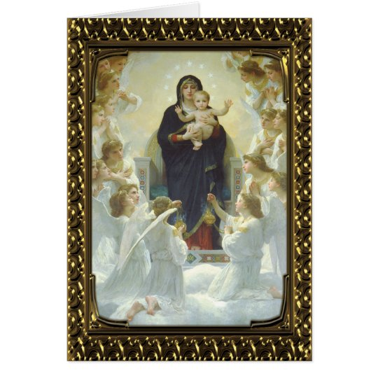 Jesus Mary und Engel - Vintage feine Kunst-Karte Karte