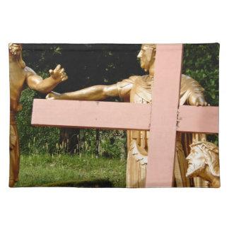 Jesus mit Kreuz Tischset