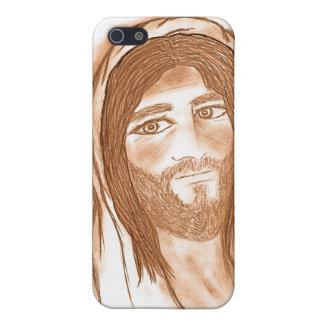 Jesus mit Kreuzen im Hintergrund iPhone 5 Etuis