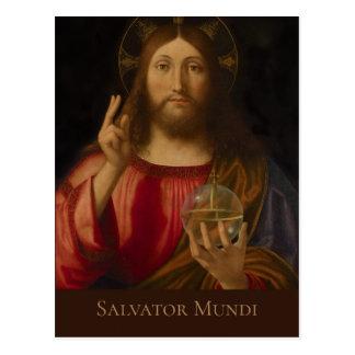 Jesus Salvator mundi Andrea Previtali CC0985 Postkarte