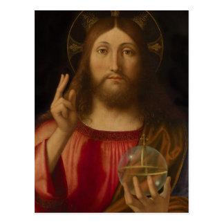 Jesus Salvator mundi Andrea Previtali CC0986 Postkarte