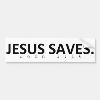 Jesus speichert autoaufkleber