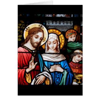 Jesus und Mary Karte